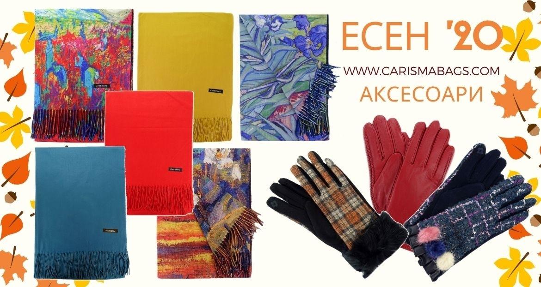 Зимни шалове и ръкавици CARISMA