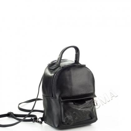 Малка чанта-раница от естествена кожа, черно 6622I-3