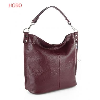 Чанта с вертикален цип в цвят бордо 2203-5