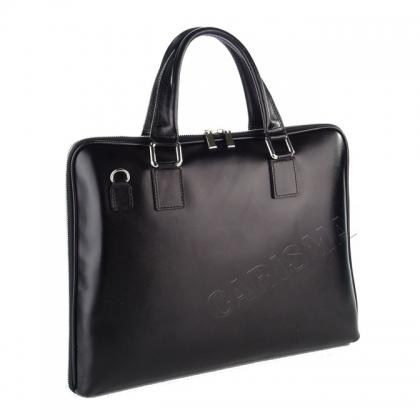 Черна бизнес чанта от естествена кожа 3098-1