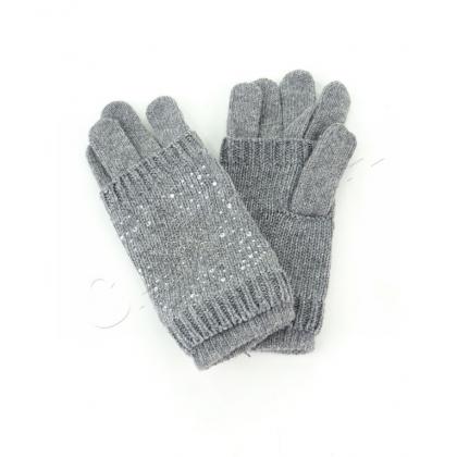 Плетени ръкавици с камъни 2 в 1
