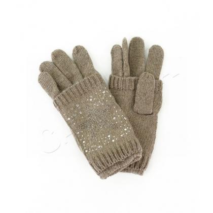 Двойни дамски плетени ръкавици 832-2