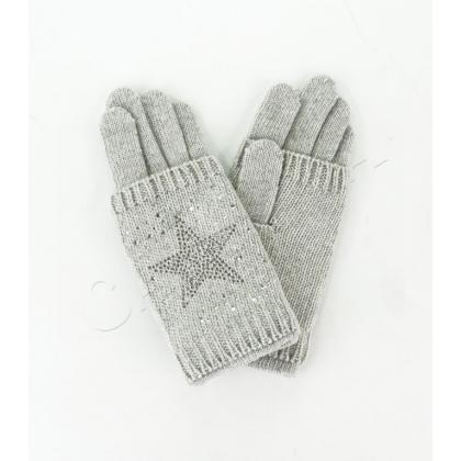 Двойни дамски плетени ръкавици 832-3