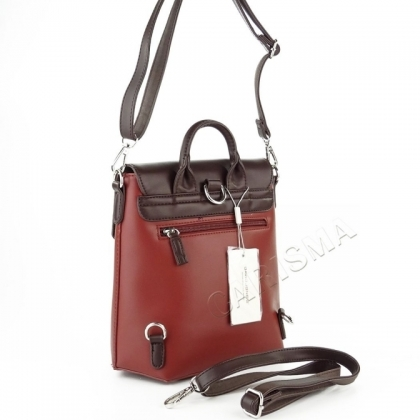 Чанта раница червена и кафява David Jones