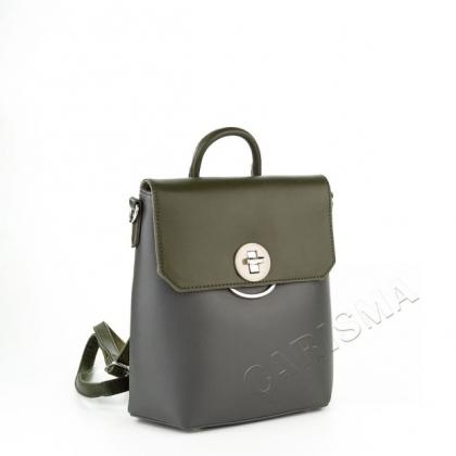 Чанта-раница, Сиво и Зелено, David Jones, 5863DJ-2