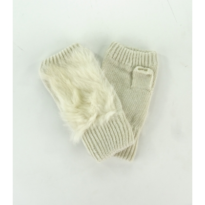 Ръкавици без пръсти със заешки пух