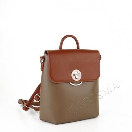 Малка чанта-раница, Кафяв и Каки, David Jones 5863DJ-3