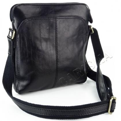 Кожена мъжка чанта черна
