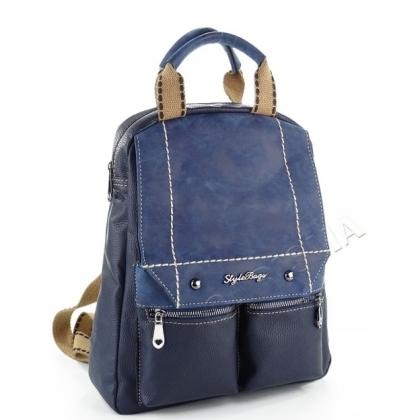 Чанта - раница Синя 1032-1
