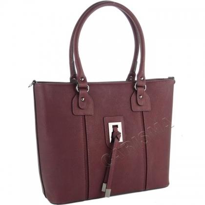 Дамска чанта в цвят бордо 9988-1
