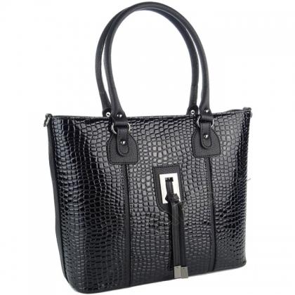 Чанта от лак и еко кожа 9988-2