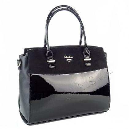 Чанта от еко кожа и лак, David Jones, 5846DJ