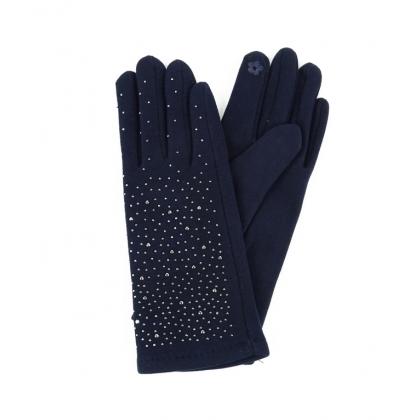 Дамски памучни ръкавици с камъни 182GD-1
