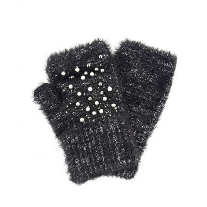 Ръкавици с камъни и перли 02B
