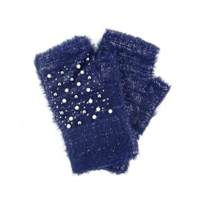 Ръкавици с камъни и перли 02B-1