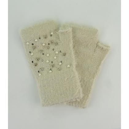 Ръкавици с камъни и перли 02B-2