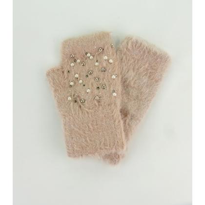 Ръкавици с камъни и перли 02B-3