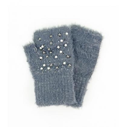 Ръкавици с камъни и перли 02B-4