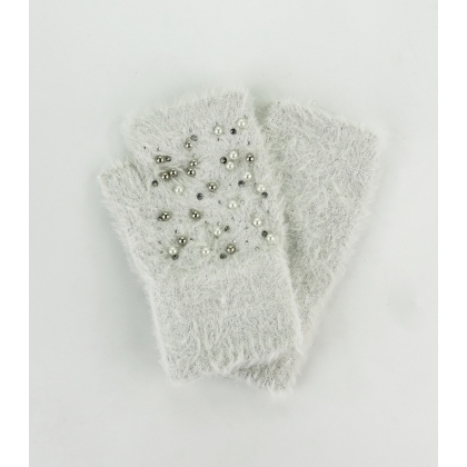 Ръкавици с камъни и перли 02B-5