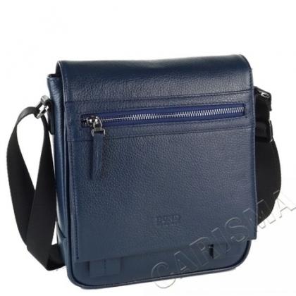 Мъжка чанта с капак, тъмносиня 2218B-1