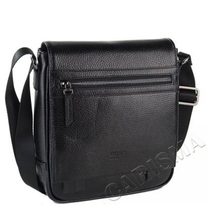 Мъжка чанта с капак, Черна 2218B-2