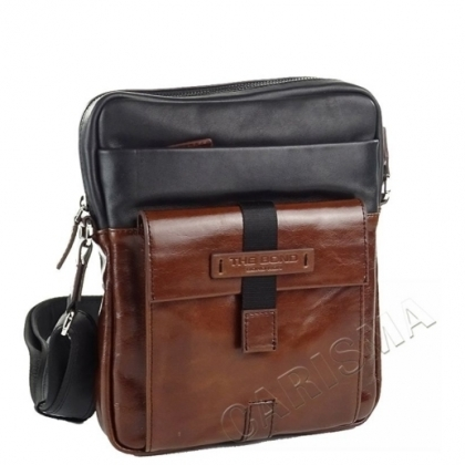 Мъжка чанта с външен джоб, Двуцветна 2225