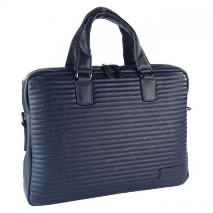 Бизнес чанта с капитониран дизайн тъмносиня