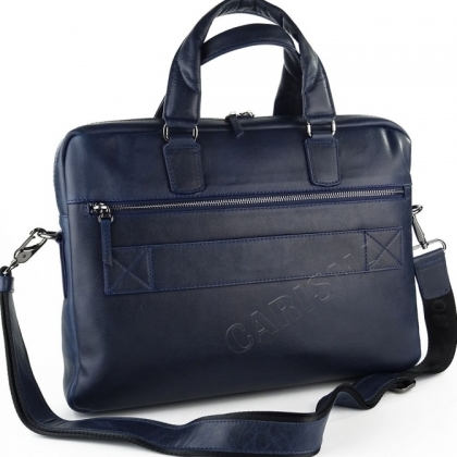 Тъмносиня мъжка бизнес чанта за рамо