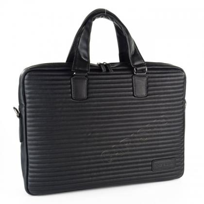 Бизнес чанта с капитониран дизайн, Черна 2276B-1
