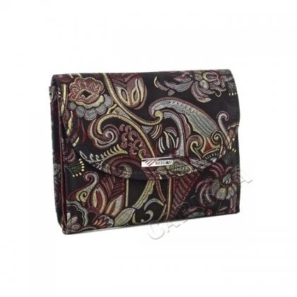 Компактно портмоне с флорална щампа 145708-3