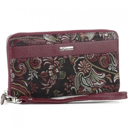 Дамски портфейл с дръжка за ръка