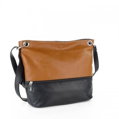 Дамска чанта с цип отпред