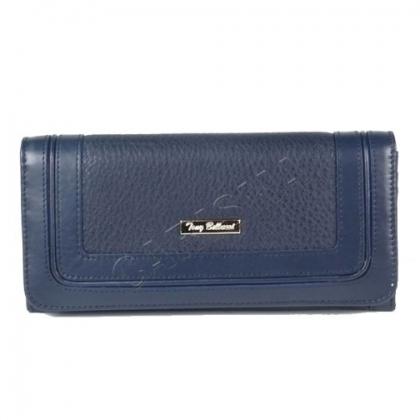 Стилен дамски портфейл, тъмно син 1097T-2