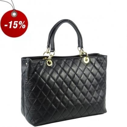 Елегантна Черна кожена чанта 2355