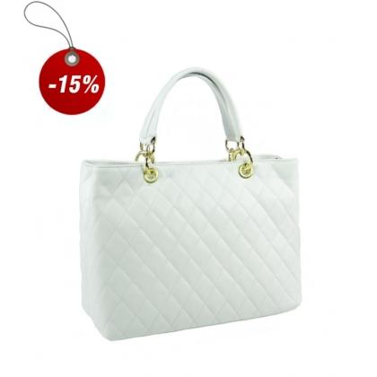 Ефектна дамска чанта от естествена кожа 2355-1