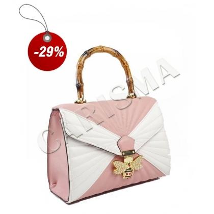 Двуцветна чанта от еко кожа 3110-2