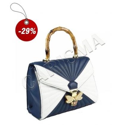 Двуцветна дамска чанта 3110-7