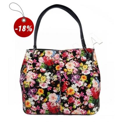 Дамска чанта с флорална щампа