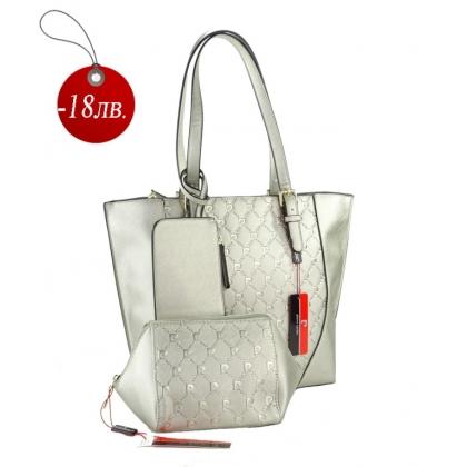 Комплект чанта и несесер за подарък Pierre Cardin