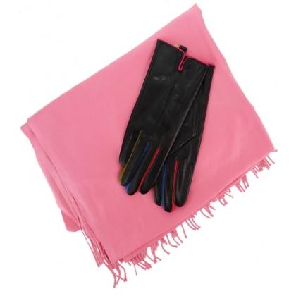 Комплект дамски шал и кожени ръкавици 0011К