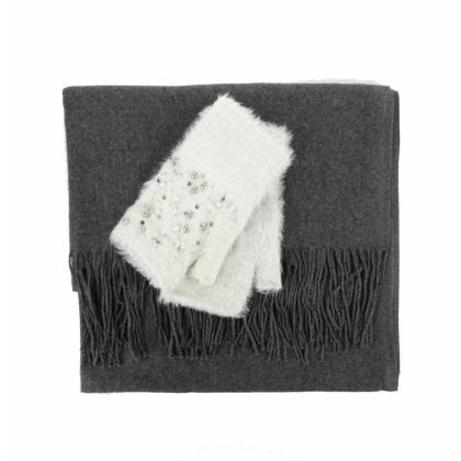 Дамски комплект шал и ръкавици 0011К-6