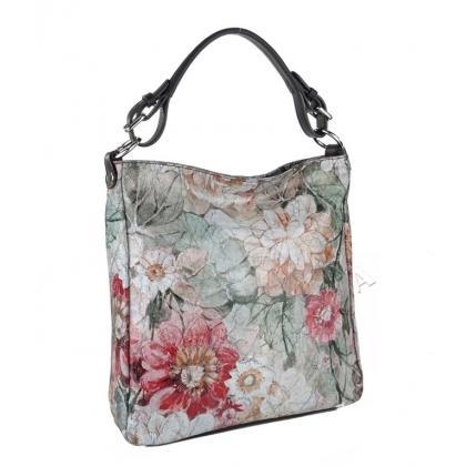 Чанта тип торба с флорална щампа 1925