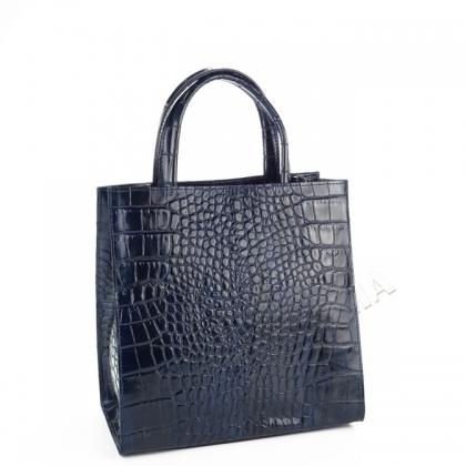Чанта от естествена кожа, тип шагрен 1402I