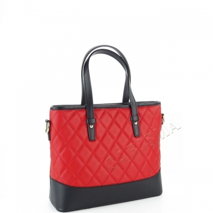 Кожена чанта с капитониран дизайн, 1822I-1