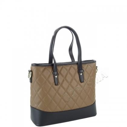 Кожена чанта с капитониран дизайн 1822I-2