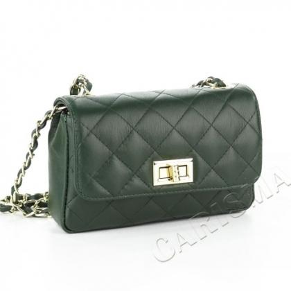 Атрактивна кожена чанта с капитониран дизайн 1834I-2