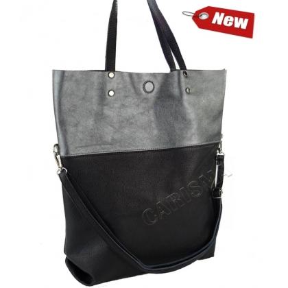Дамска кожена чанта тип торба  2474I