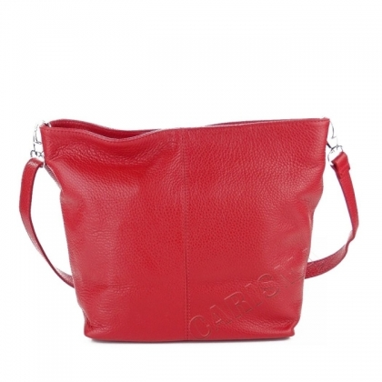 Червена мека чанта