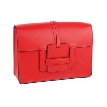 Чанта от естествена кожа в червено 1200-3