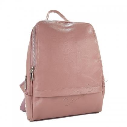 Дамска раница от еко кожа в розов цвят 2043G-1